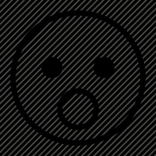 emoji, emoticon, mouth, open, shock, surprise icon