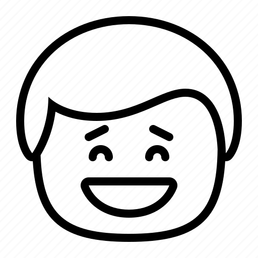 emoji, emoticon, grin, happy, man, smiley icon
