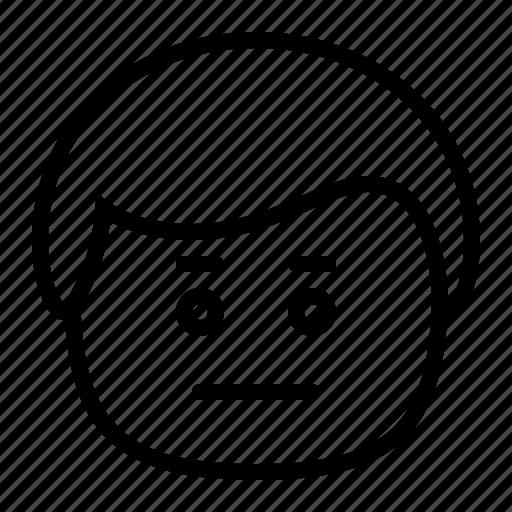 emoji, emoticon, man, smiley, speechless icon