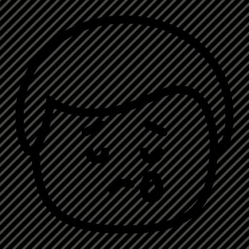 cry, emoji, emoticon, man, sad, smiley, tears icon