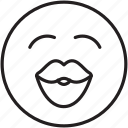 emoticon, happy, kiss, lips, love
