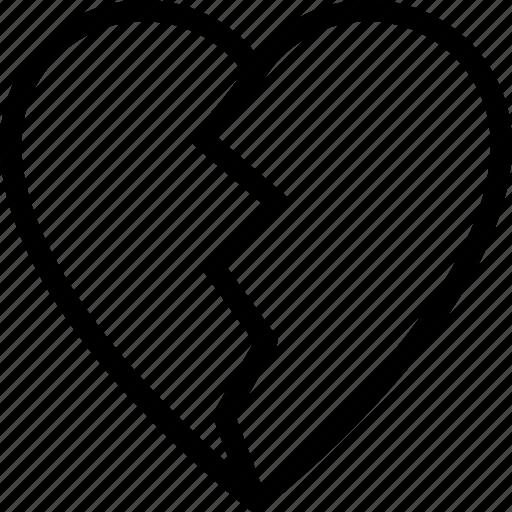 broken, emoticons, face, heart, love icon
