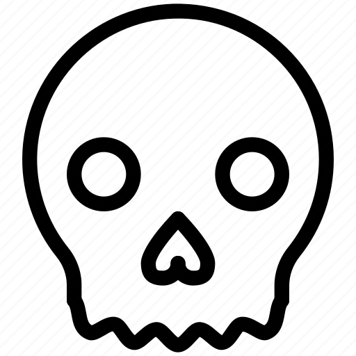 death, halloween, scary, skeleton, skull icon