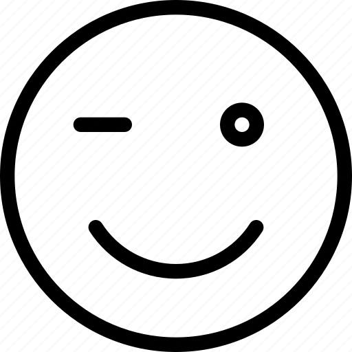 emoticons, expression, face, smile, wink icon