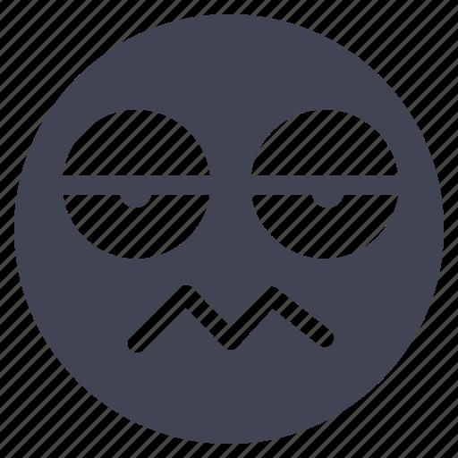arrogant, emoji, emoticon, emotion, face, smiley icon