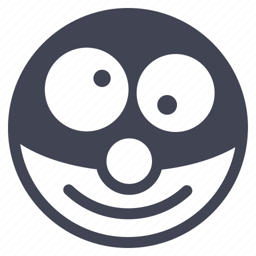 clown, emoticon, emotion, face, smile, smiley icon