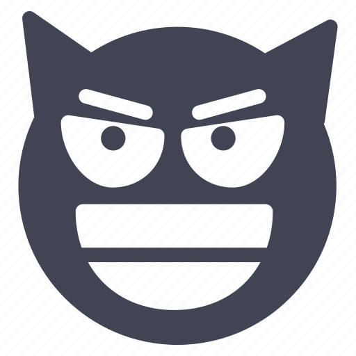 devil, emoji, emoticon, emotion, face, halloween, smiley icon