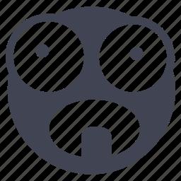 emoji, emoticon, freaking, out, smiley icon