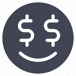 avatar, emoticon, emotion, face, greedy, smiley icon