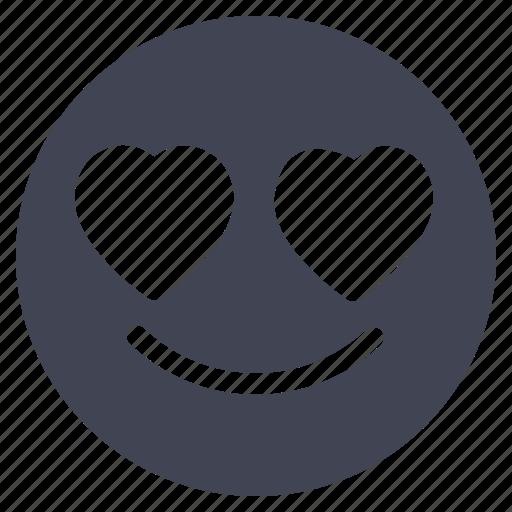 emoji, emoticon, heart, in, love, smiley icon