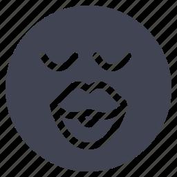 emoji, emoticon, kiss, lips, love, smiley icon