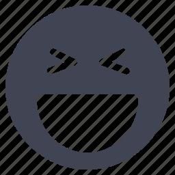 emoji, emoticon, face, happy, laughing, smiley icon