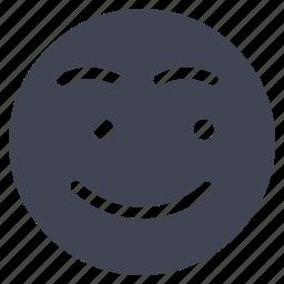 emoji, emoticon, emotion, looking, smile, smiley icon