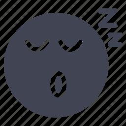emoji, emoticon, emotion, face, sleeping icon