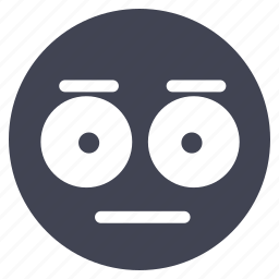 emoticon, emotion, face, smiley, speechless icon