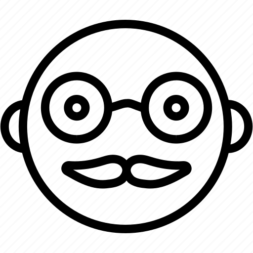 cartoon, charcter, emoji, emoticon, face, hipster, smiley icon