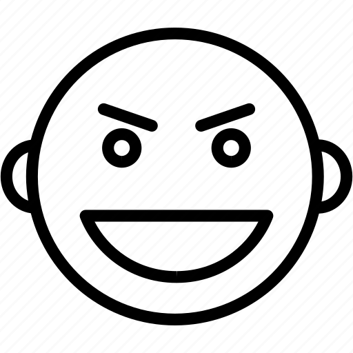 emoji, emoticon, evil, face, halloween, horror, smiley icon