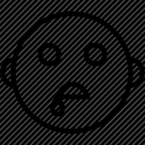drooling, emoji, emoticon, expression, face, saliva, smiley icon