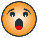 afraid, awful, disappointed, dreadful, emoticon, scared, terrible icon