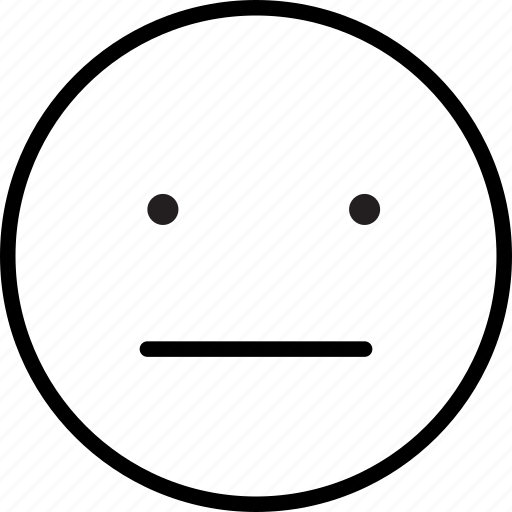 emoji, emoticon, emoticons, mood, neutral, neutral expression icon