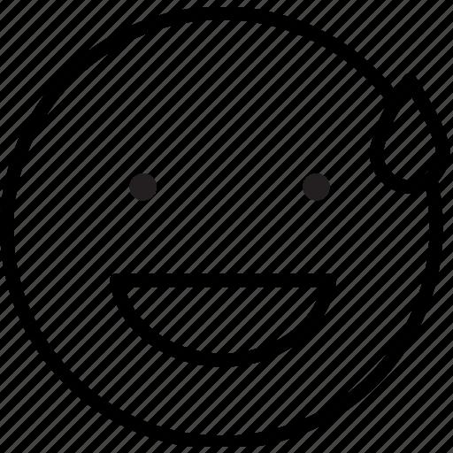 embaracced, emoji, emoticon, face, mood, smile, sweat icon