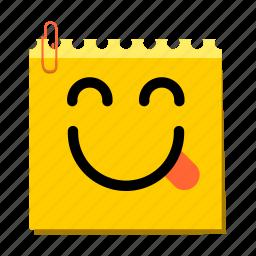 chuckle, emoticon, label, stickers icon