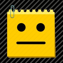 confuse, emoticon, label, stickers icon