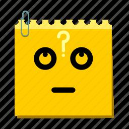 doubt, emoticon, label, stickers icon