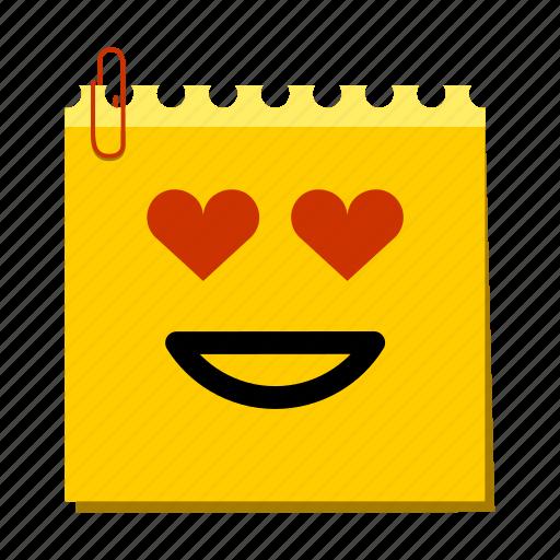 drool, emoticon, label, love, stickers icon