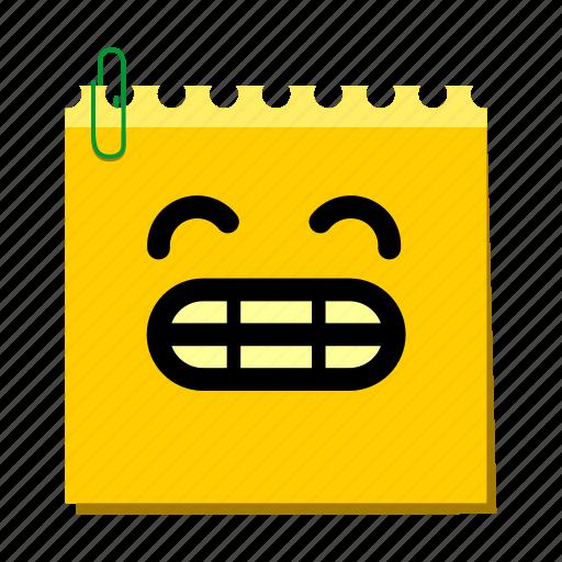 emoticon, grin, label, stickers icon