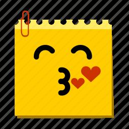 emoticon, kiss, label, stickers icon