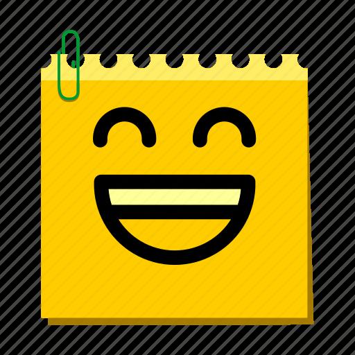emoticon, happy, label, laugh, stickers icon