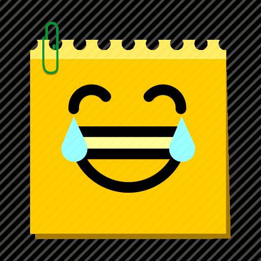 emoticon, happy, label, laughter, stickers icon