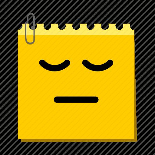 emoticon, label, sad, stickers icon