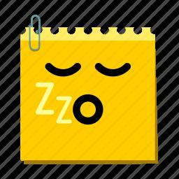 emoticon, label, sleep, stickers icon
