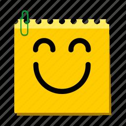 emoticon, happy, label, smile, stickers icon
