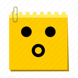 emoticon, label, stickers, surprised icon