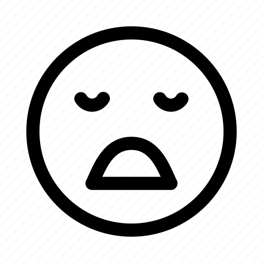 boring, emoticon, emotion, face, smileys, tired, yawning icon