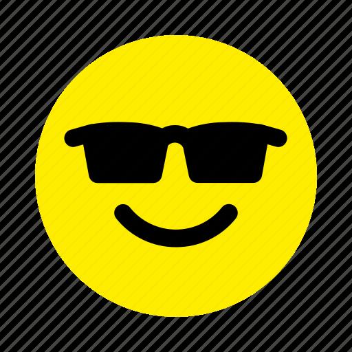 color cool emoticons face sunglasses icon