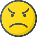 angry, emoji, emote, emoticon, emoticons icon