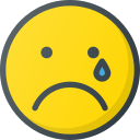 cry, emoji, emote, emoticon, emoticons icon