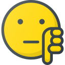 dislike, emoji, emote, emoticon, emoticons icon