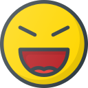 emoji, emote, emoticon, emoticons, evil, laugh icon