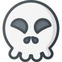 emoji, emote, emoticon, emoticons, happy, skull