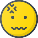 emoji, emote, emoticon, emoticons, headache icon