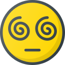 emoji, emote, emoticon, emoticons, hypnotized icon