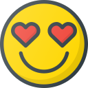 emoji, emote, emoticon, emoticons, in, love icon