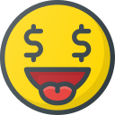 emoji, emote, emoticon, emoticons, money icon