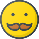 emoji, emote, emoticon, emoticons, mustache icon