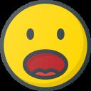 emoji, emote, emoticon, emoticons, shocked icon